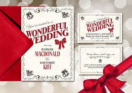 christmas wedding invitations christmas wedding invitations design