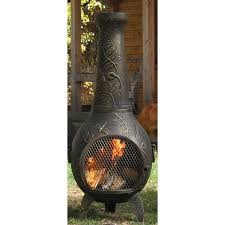 outdoor patio heater covers exterior design manoa chiminea patio heater and log store by