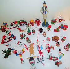 large lot of 42 vintage wooden christmas ornaments 10 1 2 sweden