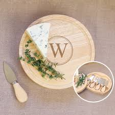 personalized cheese boards personalized rubberwood 5 gourmet cheese board set free