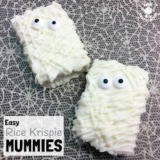 Mummy Crafts For Kids - rice krispie mummies halloween treats square kids craft room