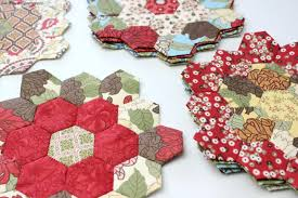 free printable hexagon english paper piecing template the little