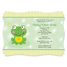 froggy frog personalized baby shower invitations