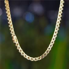 yellow gold necklace set images 14k gold 12mm iced out cuban choker chain and tennis chain set jpg