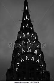 chrysler building night black and white stock photos u0026 images alamy