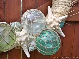 glass float summer wreath clear ornaments glass paint and wreaths