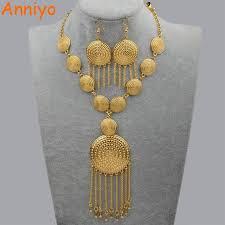 wedding jewellery sets gold anniyo wedding jewellery set necklace earrings for women
