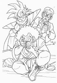 dragon ball z coloring page featuring gohan and hercule satan xd