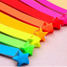 paper ribbons 1 bag origami lucky paper strips folding paper ribbons wish