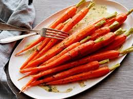 steamed carrots with lemon dill vinaigrette recipe food network
