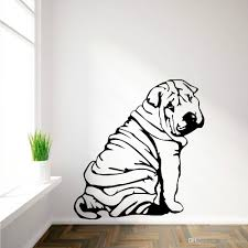 shar pei sharpei art mural en vinyl wall sticker autocollant see larger image