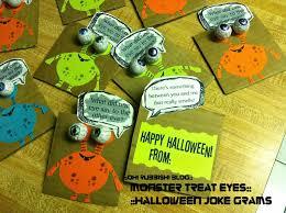 monster treat eyes halloween joke gram halloween party