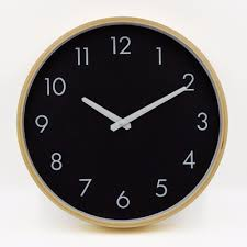 brand hippih silent wall clock wood 12 inches brief living room