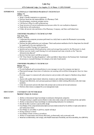 pharmacy technician resume certified pharmacy technician resume sles velvet
