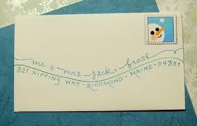 greeting card addressing f l o u r i s h