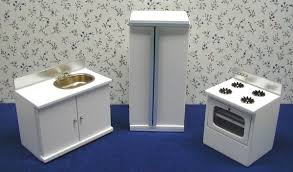 miniature dollhouse kitchen furniture white dollhouse kitchen furniture in 1 scale