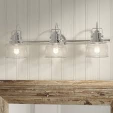 chrome vanity lights you u0027ll love wayfair