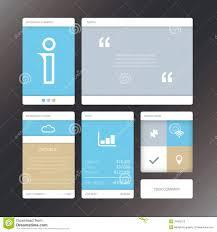 vector social panel in flat design stock vector image 58078339