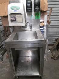 restaurant hand washing sink portable stainless steel hand wash sink w dispenser kitchen