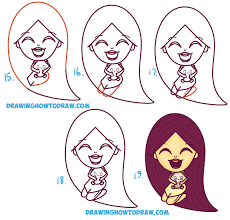 chibi how to draw a cute kawaii chibi pocahontas and meeko easy step