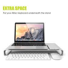 Compact Computer Desk For Imac Computer Imac Laptop Pad Desktop Tray Workspace Monitor Riser Desk