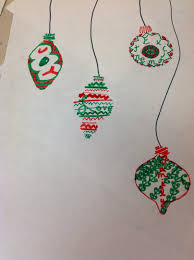 miss arty ornament drawing