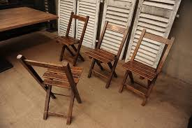 Vintage Wood Chairs Vintage French Set Of 6 Folding Wooden Chairs
