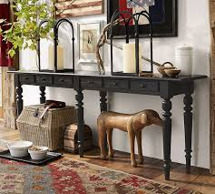 long side table with drawers sofa table design pottery barn sofa table stunning contemporary