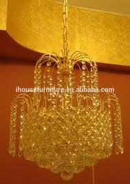 Chandelier Dubai Zhongshan Made Elegant Golden Dubai Crystal Glass Branches Led