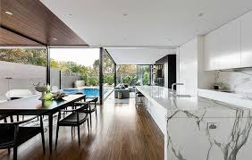 marble island kitchen melbourne heritage home with posh extension by lsa architects