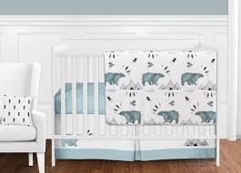 Baby Boy Crib Bedding Sets Mountain Watercolor Baby Boy Crib Bedding Set Without Bumper