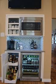 Wine Cabinet Furniture Refrigerator Custom Beverage Bar With Slide Out Wine Rack Built In Cooler And