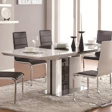 chrome dining room sets buy broderick contemporary white rectangular dining table with