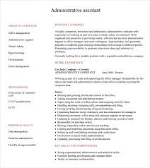 Example Format Of Resume by Administrative Assistant Resume U2013 8 Free Samples Examples Format