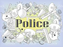 police coloring book vector stock vector art 614723052 istock