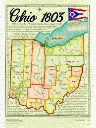 Ohio Map Us by Statehood Maps