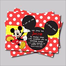 aliexpress com buy 20 pcs mickey mouse birthday invitation for