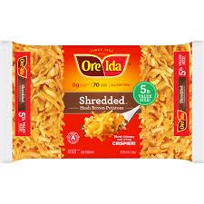 ore ida u0026 194 u0026 174 shredded hash brown potatoes 30 oz bag