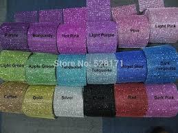 cheap ribbon for sale sale 1 yards 18 colors diamond mesh ribbon rustic wedding