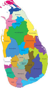 Map Of Sri Lanka National Housing Development Authority Sri Lanka District Network