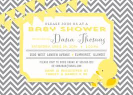 rubber duck baby shower invitation home design