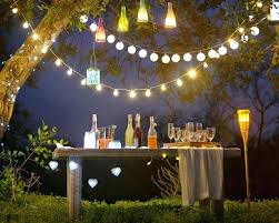 outdoor party string lights led with for wedding globe background birthday flags garden