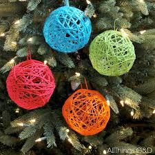 yarn ornaments all things g d