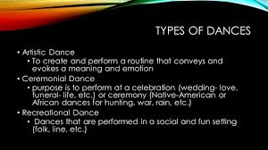 Types Meaning Types Of Dances Artistic Dance To Create And Perform A Routine