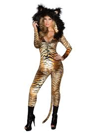 hooded tiger catsuit