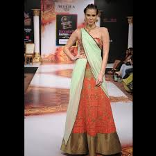 corset blouse orange corset blouse and lace saree soucika