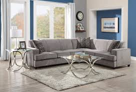 Gray Fabric Sectional Sofa Tess Casual Grey Fabric Sectional Sofa For Corners With Queen Size