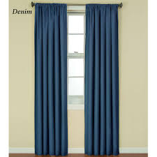 Bright Blue Curtains Kendall Bright Thermaback Tm Blackout Curtain Panels