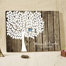 rustic wedding guest book rustic wedding guest book signature fingerprint tree wood framed