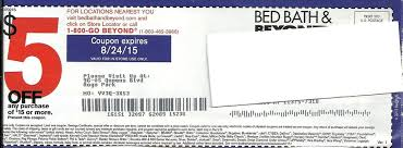 Online Coupon Bed Bath And Beyond 5 Bed Bath And Beyond 5 Off 15 Coupons Unexpired Ebay